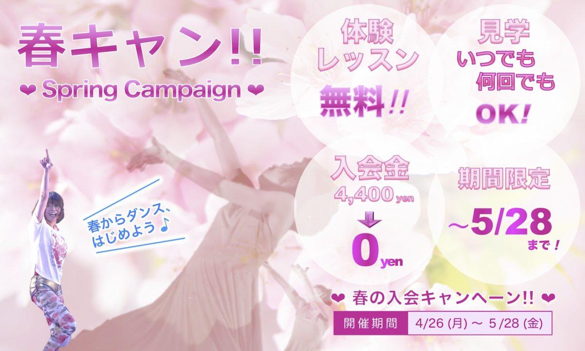 春の入会キャンペーン開催中です!